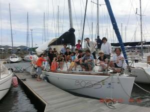 葉山ヨットクラブの仲間たちと